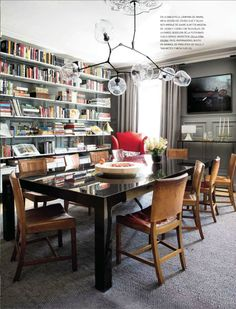 this is what i want, a dinning room/library in a beautiful old house  Full House Blog - Architectural Digest Spain