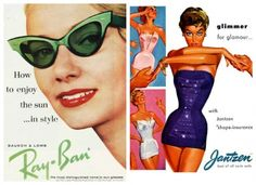 High Fashion Ads 1960 | ... Kool in the other. #vintage #ads # humor #beach #1960s #fashion