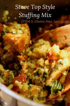 Stove Top Style Dressing Mix {THM S, Gluten Free, Low Carb}