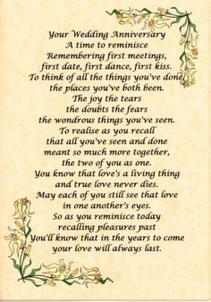 50th wedding anniversary verses - Google Search                                                                                                                                                     More