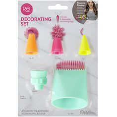 Wilton Rosanna Pansino Specialty Decorating Tips and Bag Set, 9 pc. Wilton Cake Decorating, Cookie Decorating, Decorating Tips, Rosanna Pansino Nerdy Nummies, Cake Icing Tips, Baking Pans Set, Shopkins Colouring Pages, Galaxy Cake, Monster Cupcakes