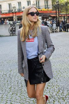 Slip into a leather skirt for fall.