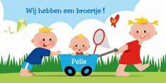 3 kinderen en een bolderkar in een hollands landschap.