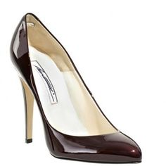 Brian Atwood red patent leather Nico pumps