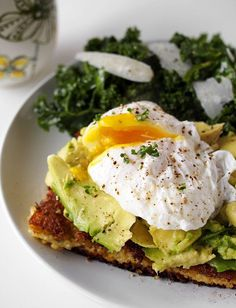Fried Polenta, Avocado and Poached Egg Breakfastwomansday