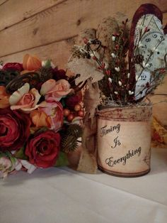 Bouquet with rustic decor