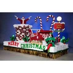 Complete Christmas Time Is Here Parade Float Theme - Take the guesswork out of building a Christmas float with this complete float kit. Includes materials and instructions! Christmas Carnival, Christmas Events, Office Christmas, Christmas Time Is Here, Christmas Store, Outdoor Christmas, Christmas Diy, Christmas Decorations, Outdoor Decorations