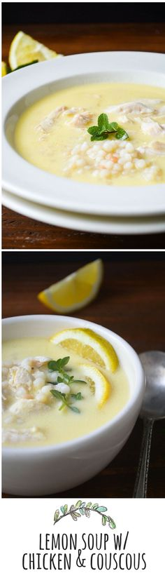 This silky lemony soup is like a bowl of sunshine!