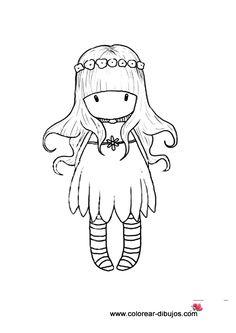 Dibujos de muñecas gorjuss.Imprimir y colorear muñecas gorjuss