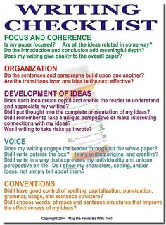 Writing Checklist by The Writing Doctor, via Flickr