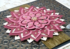 http://tiny.cc/SB-PreOrder  WOW! This is such a great tool - the Flower Burst die that will Cut just enough for you to then fold and tuck pieces to create dimensional, tonal pieces! Phenomenal. See how Designer Heidi created this beauty at http://tiny.cc/SB5-Heidi