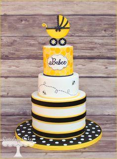 Yellow Black Bees Cake