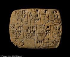 tavoletta sumerica con pagamento in birra