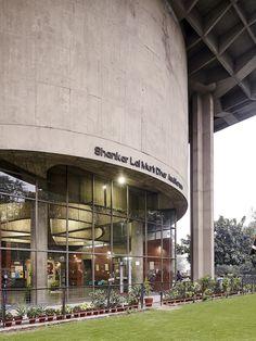 Shri Ram Centre, New Delhi, 1968. Architect: Shiv Nath Prasad. Structural Engineer: Mahendra Raj.