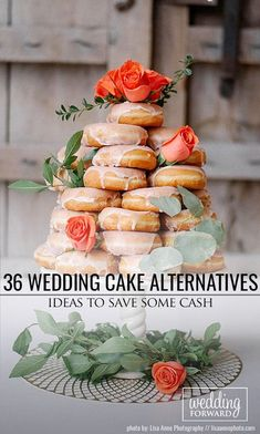 36 Wedding Cake Alternatives To Save Cash ♥ You can break the common rules and make wedding unexpected and fun! We have in our gallery wedding cake alternatives that are inexpensive and delicious. #wedding #bride #weddingcake #weddingforward