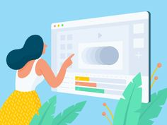 Animate Ads Illustration designed by Anita Molnar for Bannersnack. Connect with them on Dribbble;