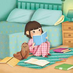 ¿Cuántos cuentos leemos antes de dormir? (ilustración de La Perera)