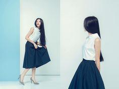 Jia Lin -  - Long hair | LOOKBOOK