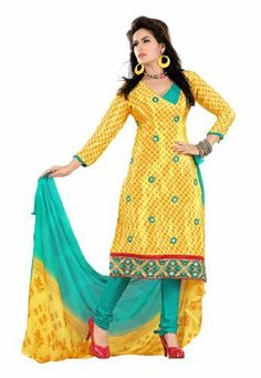 Fabdeal Indian Designer Crepe Jacquard Yellow Embroidered Salwar Kameez Fabdeal Inc, http://www.amazon.fr/dp/B00INWS2DY/ref=cm_sw_r_pi_dp_SFuotb0XGW4KV
