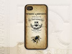Vintage Bee phone case, iPhone 4 4S 5 5s Samsung Galaxy S3 S4, Hexagon, Ephemera, Honey bees, French label, Bee phone cover V1045 on Etsy, $17.99
