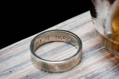 Awesome wedding ring!