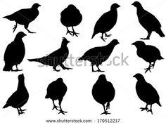 partridge silhouettes