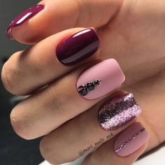 34 Wedding Nail Art Designs You Will Like These trendy Nails ideas would gain you amazing compliments. Check out our gallery for more ideas these are trendy this year. Fancy Nails, Love Nails, Pink Nails, How To Do Nails, Pretty Nails, Style Nails, Matte Pink, Nails 2018, Shellac Nails