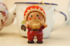 Vintage 50s 60s wooden Gnome Santa Christmas by SycamoreVintage
