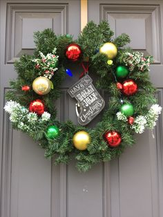 beautiful christmas wreath with battery operated lights batteries included handmade with love