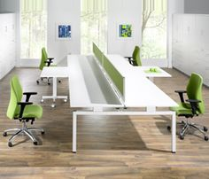 I like the simplicity, clean lines, and flexibility with a splash of color. Office Space Design, Office Interior Design, Office Interiors, Lounge Furniture, Office Furniture, Work Station Desk, Work Stations, Modular Office, Contemporary Furniture