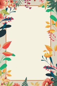 Flower Background Design, Poster Background Design, Theme Background, Flower Background Wallpaper, Vintage Flower Backgrounds, Frame Floral, Flower Frame, Poster Color Painting, Flower Graphic Design