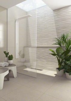 Modern bathroom design trends offer spectacular tiles for decorating walls and floors in 2020 Modern Bathroom Tile, Contemporary Bathroom Designs, Bathroom Tile Designs, Bathroom Trends, Bathroom Interior Design, Bathroom Plants, Bathroom Ideas, Bathroom Storage, Bathroom Black