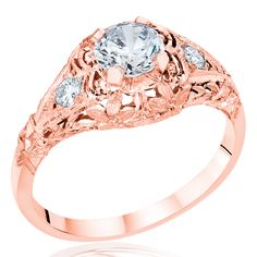 Whitehouse Brothers Rose Gold Engagement Ring