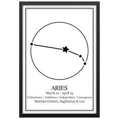 Stjärntecken Vädur/Aries // Pris: 119kr på Postershop.nu    Finns att köpa på https://postershop.nu/produkt/posters/stj%c3%a4rntecken-v%c3%a4duraries/    #art