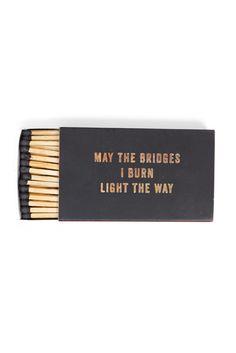"""Izola """"Bridges I Burn"""" Matches"""