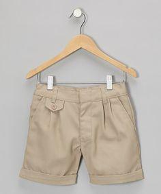 Khaki Cuffed Shorts - Girls by Genuine School Uniform #zulily #zulilyfinds $9.99, regular 24.00