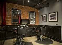 This I really like...manly but not too bad Barber Shop Lounge