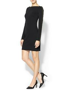 Rachel Zoe Pearson Zipper Dress | Piperlime. Neckline, classic, but a little bit edgy and unexpected with the zipper detail.