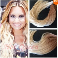 Hot Queen New Fashion Human Hair Products Brazilian Straight Ombre Tape In Human Hair Extension #27/613 Remy Skin Weft Hair Extension