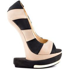 Shoe Republic Grain - Black PU ($85) ❤ liked on Polyvore