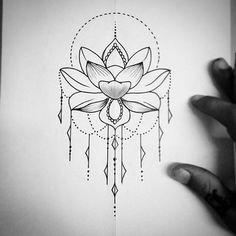 Image result for tatuagem flor de lotus