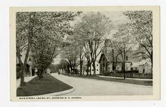 Main Street, Louisa, KY, showing M.E. Church :: Ronald Morgan Postcard Collection