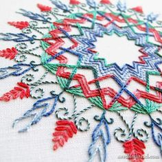 Kaleidoscope Hand Embroidery Project | Impeccable Hand Embroidery Designs | Sewing Tips, Ideas, And Guide