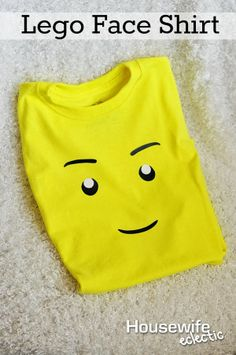 Housewife Eclectic: How to make this quick and easy Lego Face Shirt