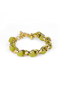 Hallam Bracelet, Chartreuse/Gold | Lulu Avenue www.luluavenue.com/sites/SallyMartin
