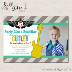 Party Like a Rock Star Party Invitation