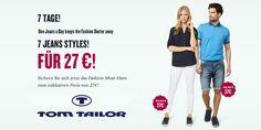 TOM TAILOR: jeden Tag 7 Jeans für je 27,00 € #tomtailor #gutscheinlike #sale #rabatt #jeans #shops