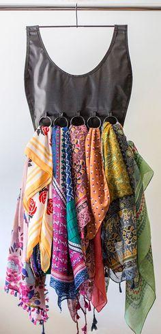 Scarf holder looks like a pretty dress #product_design