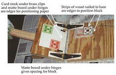 Homemade block printing press