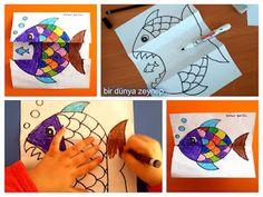 #preschool #okulöncesi #kindergarten #balık #sanatetkinliği #kidscraft